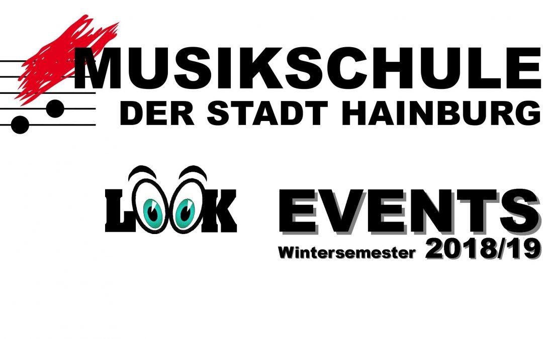 Veranstaltungen der Musikschule im Wintersemester 2018/19