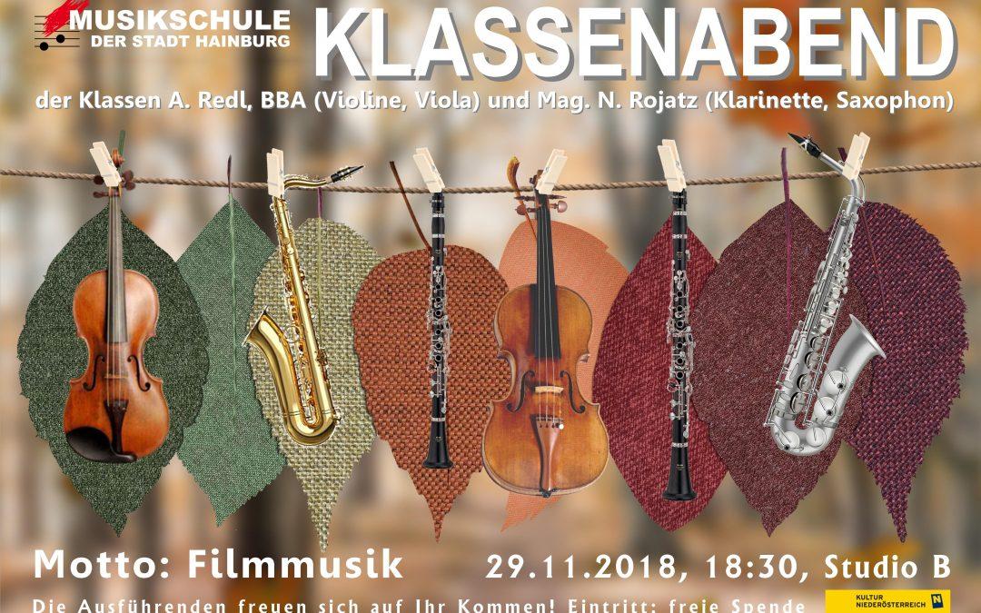 KLASSENABEND / 29.11.2018, 18:30, Studio B