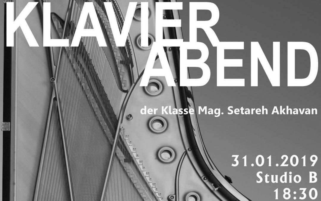 KLAVIERABEND der Klasse Mag. S. Akhavan, 31.01.2019, 18:30, Studio B
