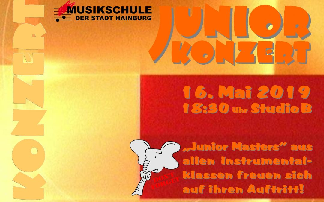 JUNIORKONZERT – 16.05.2019, 18:30 Uhr, Studio B