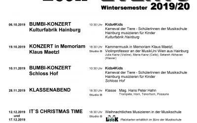 Veranstaltungen Wintersemester 2019/20