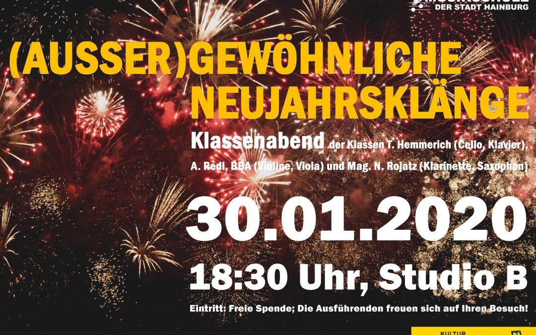 (AUSSER)GEWÖHNLICHE NEUJAHRSKLÄNGE, 30.01.2020, 18:30 Uhr, Studio B