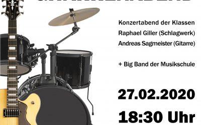 SCHLAGWERK- und GITARRENABEND, 27.02.2020, 18:30 Uhr, Studio B
