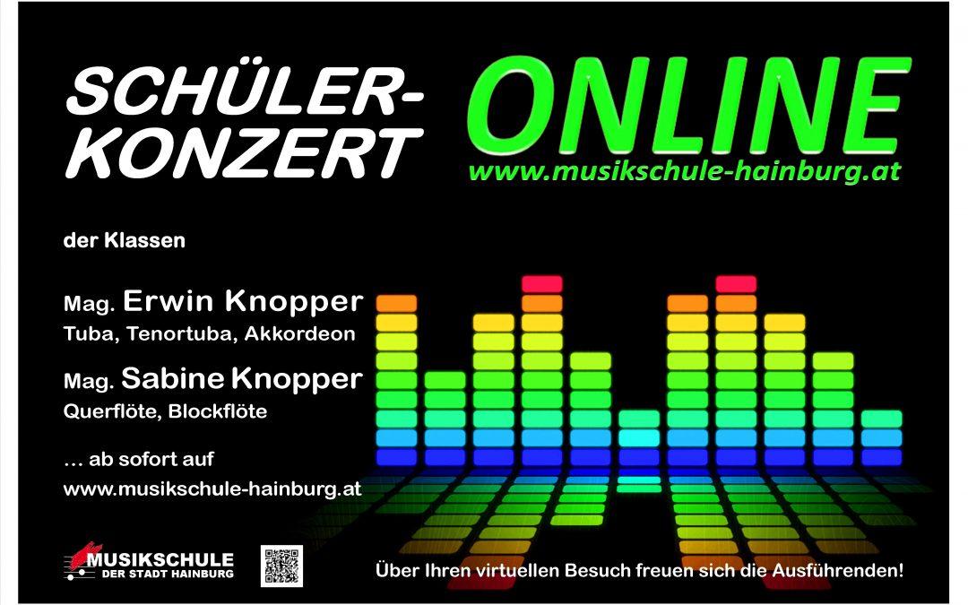 SCHÜLERKONZERT der Klassen Mag. Sabine KNOPPER & Mag. Erwin KNOPPER